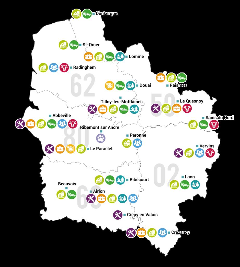 Carte FIlières 2020
